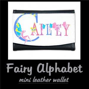 FAIRY ALPHABET | personalizable mini leather wallet