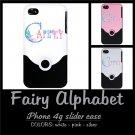 FAIRY ALPHABET | personalizable iPHONE 4 slider case