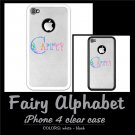 FAIRY ALPHABET | personalizable iPHONE 4 clear case