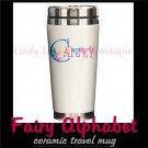 FAIRY ALPHABET | personalizable ceramic travel mug