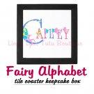 FAIRY ALPHABET | personalizable tile keepsake box