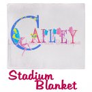 FAIRY ALPHABET | personalizable stadium blanket