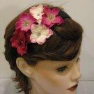 PINK Rhinestone Hydrangea Flower Cluster Headband Valentine's Day