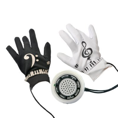 PIANO GLOVES WITH MUSICAL FINGERTIPS.