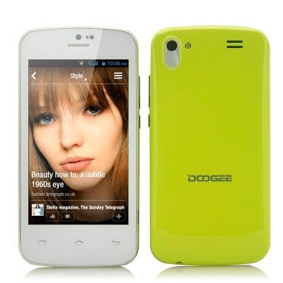 "Android 4.2 Phone ""DooGee Midori"" - 4 Inch IPS Screen, 1.3GHz Dual Core CPU, Dual Camera."