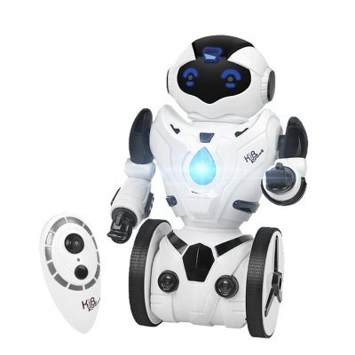 Auto Balancing RC Robot - 5 Characteristics, Walking, Fight Mode, Dancing and Singing (White)