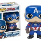 #125  FUNKO POP CAPTAN AMERCA CIIVIIL WAR