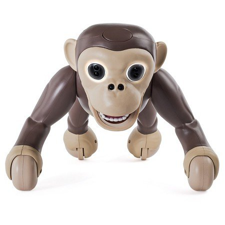 Zoomer Chimp moves just like a real Chimp: on all fours, flipping, standing, and rolling and  more.