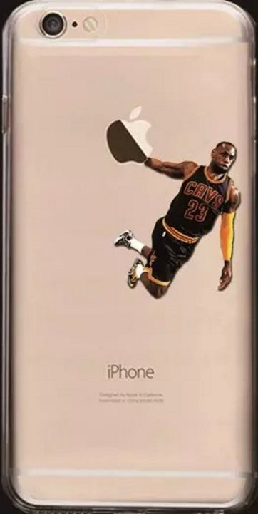 Soft NBA Cell Phone Cases Fits Iphone 6 and Iphone 7. **Lebron James**