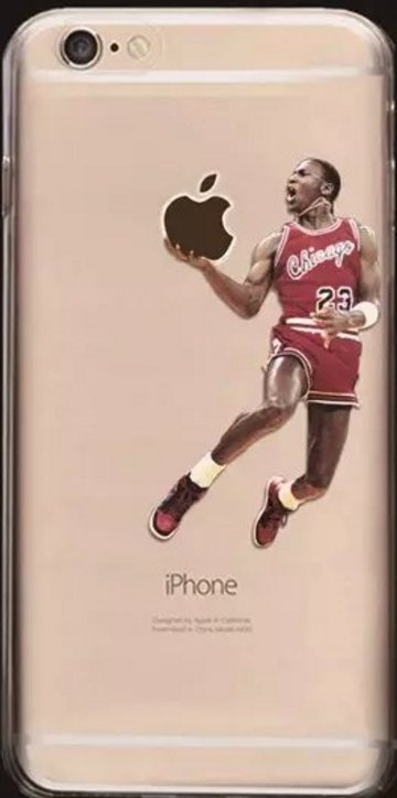 Clear Soft Cell Phone Cases Fits Iphone 6 and Iphone 7. **Michael J NBA.**
