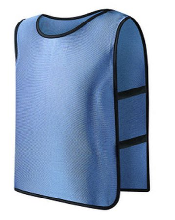 **Light Blue** Scrimmage Vest For Football, Soccer, Basketball, and more. Small size for Kids.