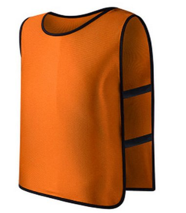 **Orange** Scrimmage Vest For Football, Soccer, Basketball, and more. Small size for Kids.