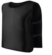 **Black** Scrimmage Vest For Football, Soccer, Basketball, and more. Small size for Kids.