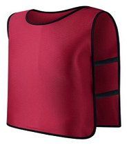 **Red** Scrimmage Vest For Football, Soccer, Basketball, and more. Small size for Kids