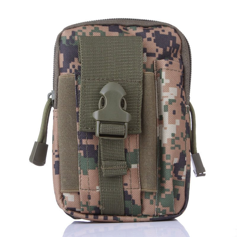 Woodland Digital Military Inspired Bag.Compatible with Various Cell Phones, Knives, Flashlights,.