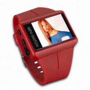 MP 167A  - MP4 Watch with USB Adapter Cable and Stereo Earphones  128MB