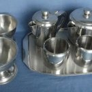Vintage Stainless Steel Tea Set Dessert Bowls Set of 7