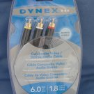 Dynex  Composite Video/Stereo Audio Cable DX-AV061 NEW