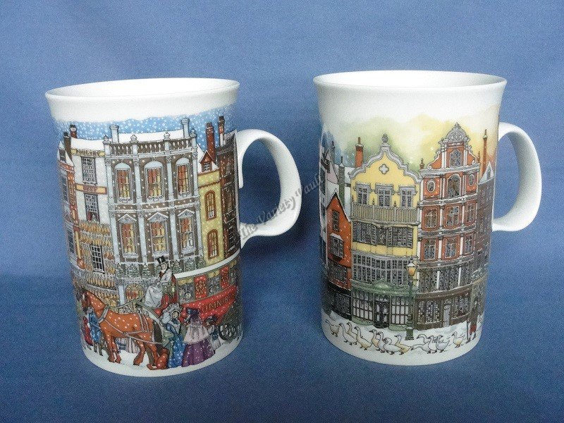 Dunoon Stoneware Christmastime Cups Mugs Vintage
