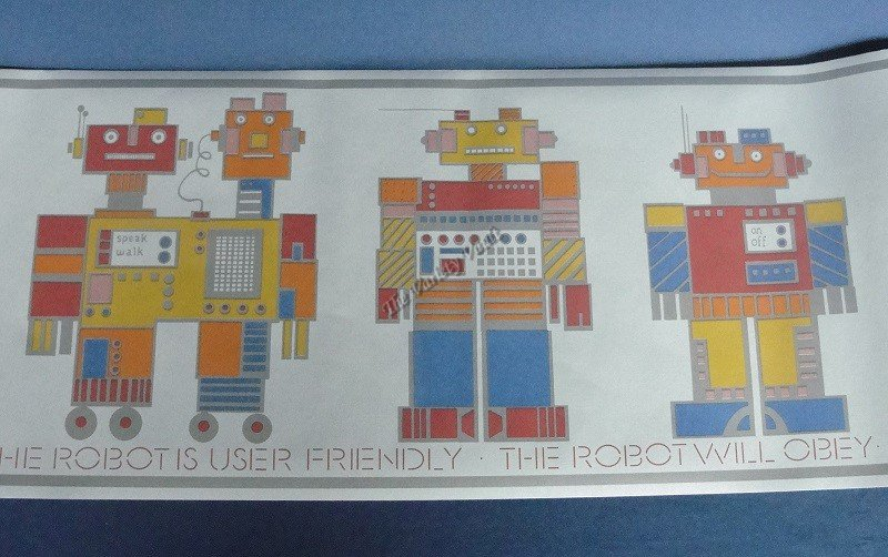 Kids Robot Wall Border