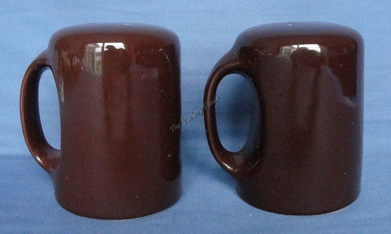 Ceramic Brown Salt & Pepper Shakers