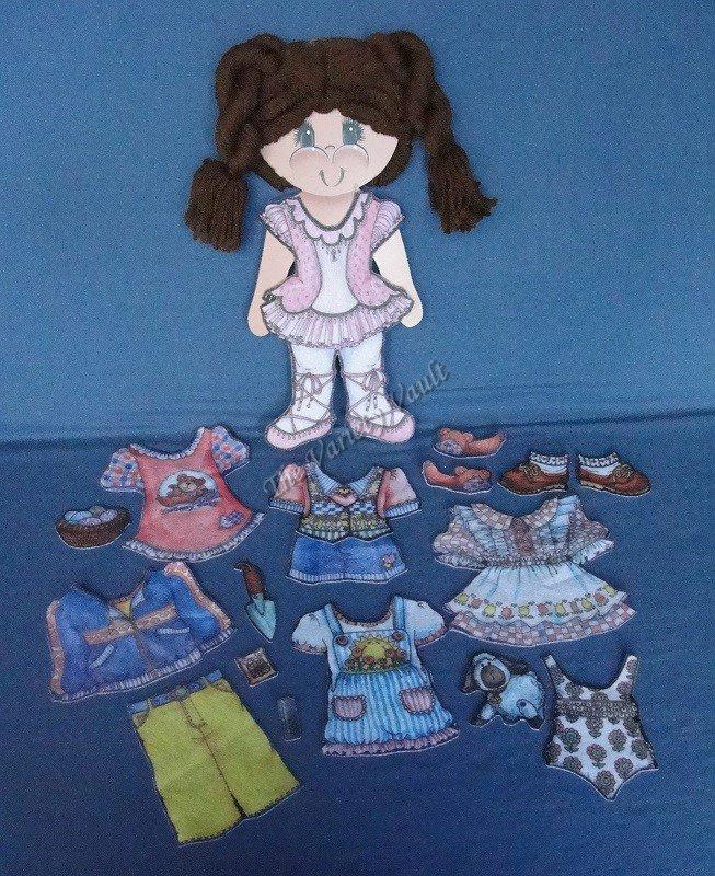 Felt Dolls Board Backing Set of 2