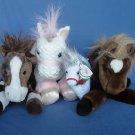 Unicorn Horse Lot Ty Circo Douglas Cuddle Toys Aurora