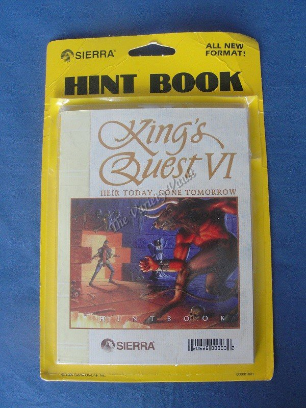 King�s Quest VI Hint Book Sierra Heir Today Gone Tomorrow Vintage New Open Package