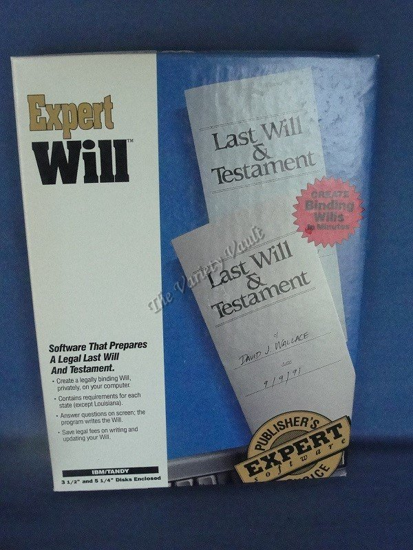 Expert Will IBM/Tandy PC Software Vintage