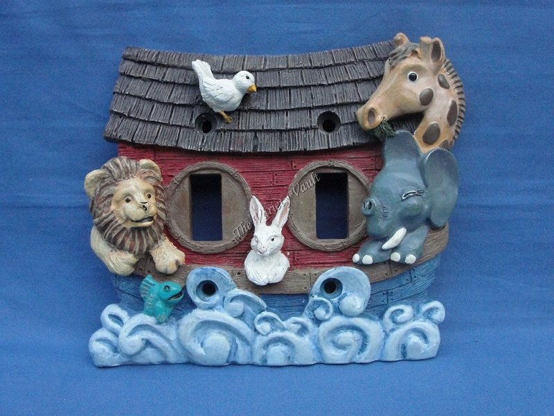 Noah's Ark Double Toggle Light Switch Plate Cover
