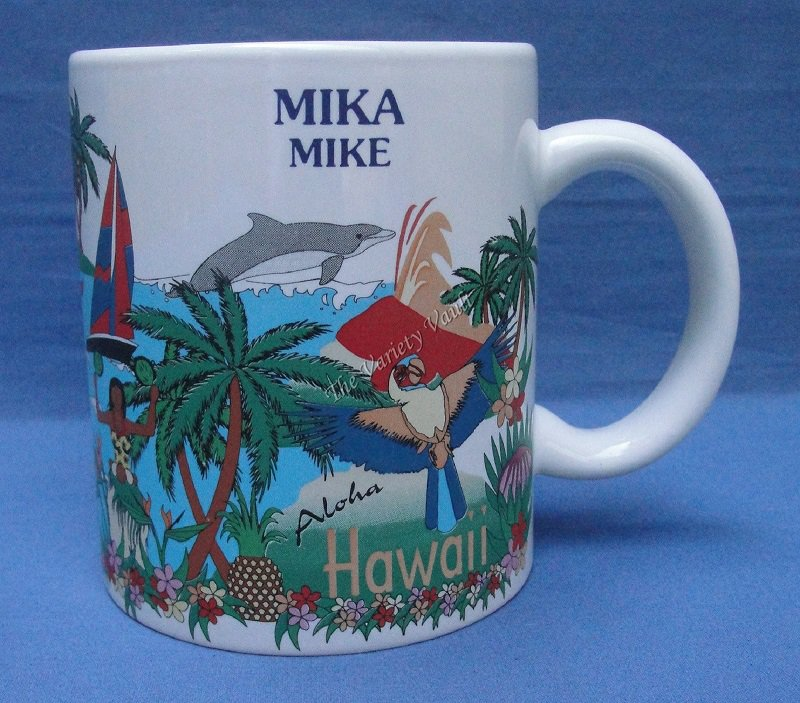 Hawaii Mike Mika Cup Mug Cocoa Chocolate Coffee