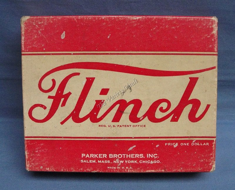 FLINCH Card Game Vintage 1938 Parker Brothers Salem MA Complete