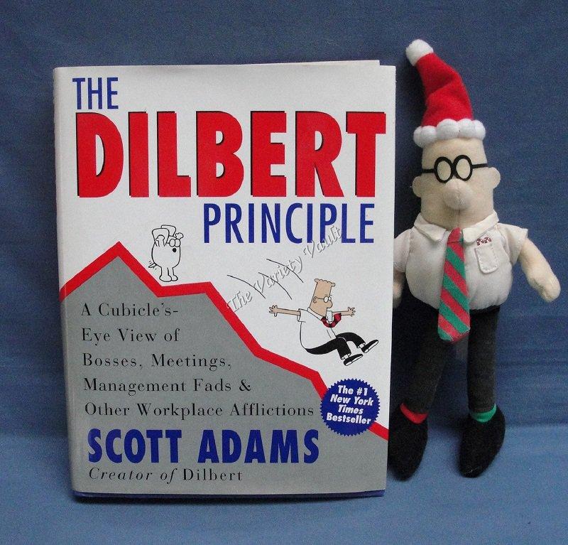 The Dilbert Principle Scott Adams Includes stuffed Dilbert