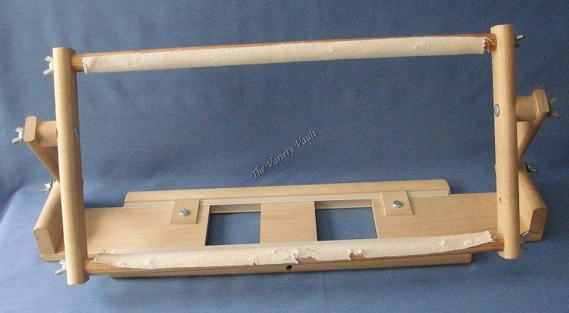 Cross Stitch Needlework Table Top Scroll Frame KS Creations
