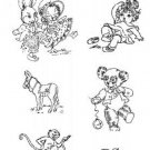 Baby / Nursery Animals embroidery transfer pattern W966