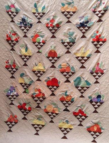McKim 1930's newspaper Fruit Basket quilt pattern applique & patchwork