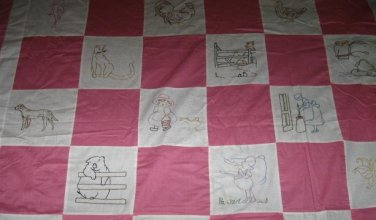 McKim 1930's newspaper Farm Life quilt 25 Block embroidery pattern