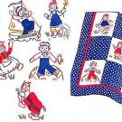 Raggedy Ann with Raggedy Andy + Belinda 1943 Quilt Pattern transfer