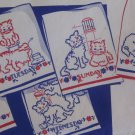 cross stitchPair of Kittens Towel DOW embroidery transfer pattern Su142