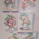 Fruits at Play dish towel embroidery transfer pattern Mc1419
