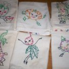 Animated Dancing Vegetables Tea Towels embroidery pattern V198