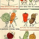 Animated Vegetables in applique / embroidery pattern Mc349