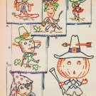 Six Nations Vegetable Delegate towel embroidery transfer pattern Mc1351