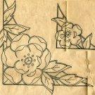 1940s Rose Corners embroidery transfer Original