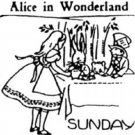 40's Alice in Wonderland transfer pattern embroidery ww1001