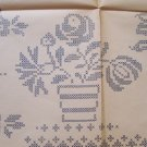1930's Cross Stitch Flowers transfer embroidery ORG (10)
