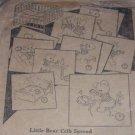 1920's TEDDY BEARS / LITTLE BEAR CRIB SPREAD embroidery transfer pattern n9163