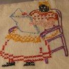 Black Americana Mammy DOW transfer embroidery pattern mo849