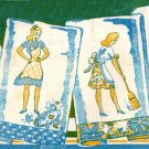 6 Ladies applique & embroidery Towel transfer pattern W956