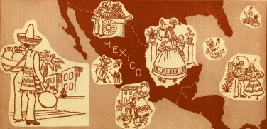 Mexicana Man, Woman & Life Household embroidery transfer pattern Su120